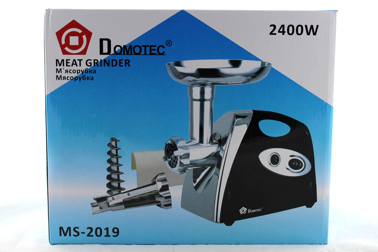 Мясорубка электрическая  2в1 DOMOTEC MS 2019 \ 2400W