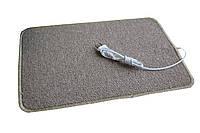 🔝 Электро-коврик с подогревом (коричневый, закругленные углы, 50 x 33 см) Трио, электрический | 🎁%🚚