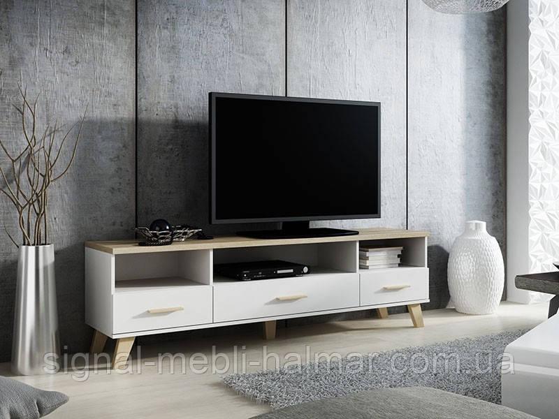 TV тумба Lotta 180 Белый мат / Дуб сонома мат Cama