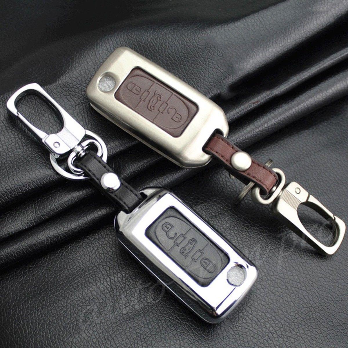 Металлический чехол для ключа Peugeot 1007,107,108 ,206,207,208,3008, 301,307,308,4008,406,407,408,508,partner