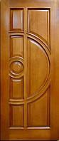 Двері з масиву, двері вхідні, виготовлення та встановлення вхідних дверей  П1
