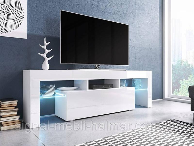 Тумба TV Toro 138 Білий мат / Білий глянець Cama