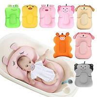 Противоскользящий детские коврик для ванной — Оранжевая хрюшка. Складная новорожденная купальная подушка