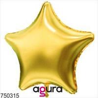 """Agura Шар надувной Фольгированный звезда 21"""", Цвет Золото, 750315"""