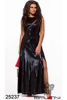 Длинное облегающее блестящее платье на праздник фабрика Украина Balani большой размер 48-54