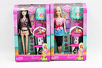 Кукла типа Барби 6176 24шт 2 вида,с питомцем,домиком,сумочкой в кор.