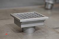 Канализационный трап 350*350 из нержавеющей стали , фото 1