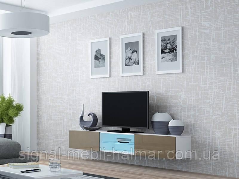 TV тумба Vigo Glass Белый мат / Латте глянец Cama