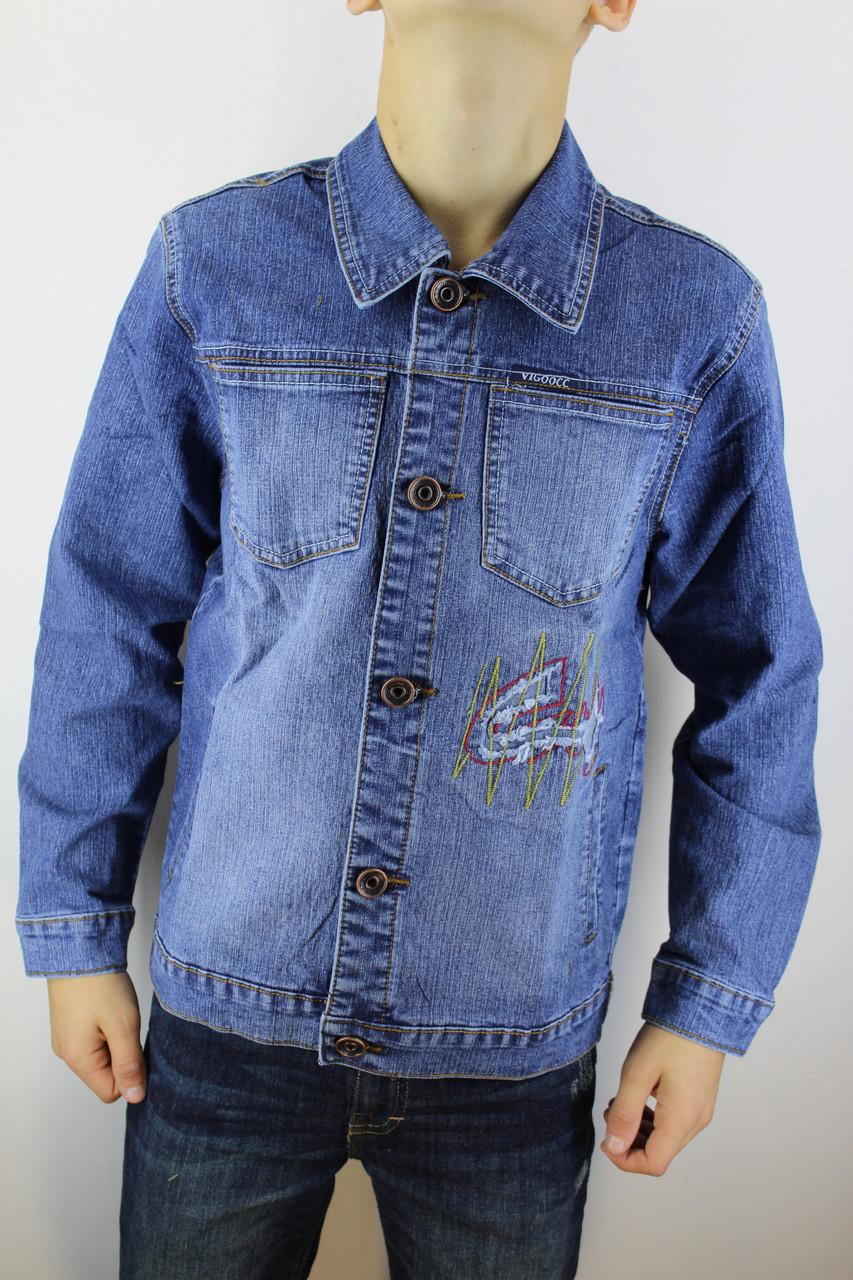 Пиджак джинсовый подростковый  60081 синий 36-44