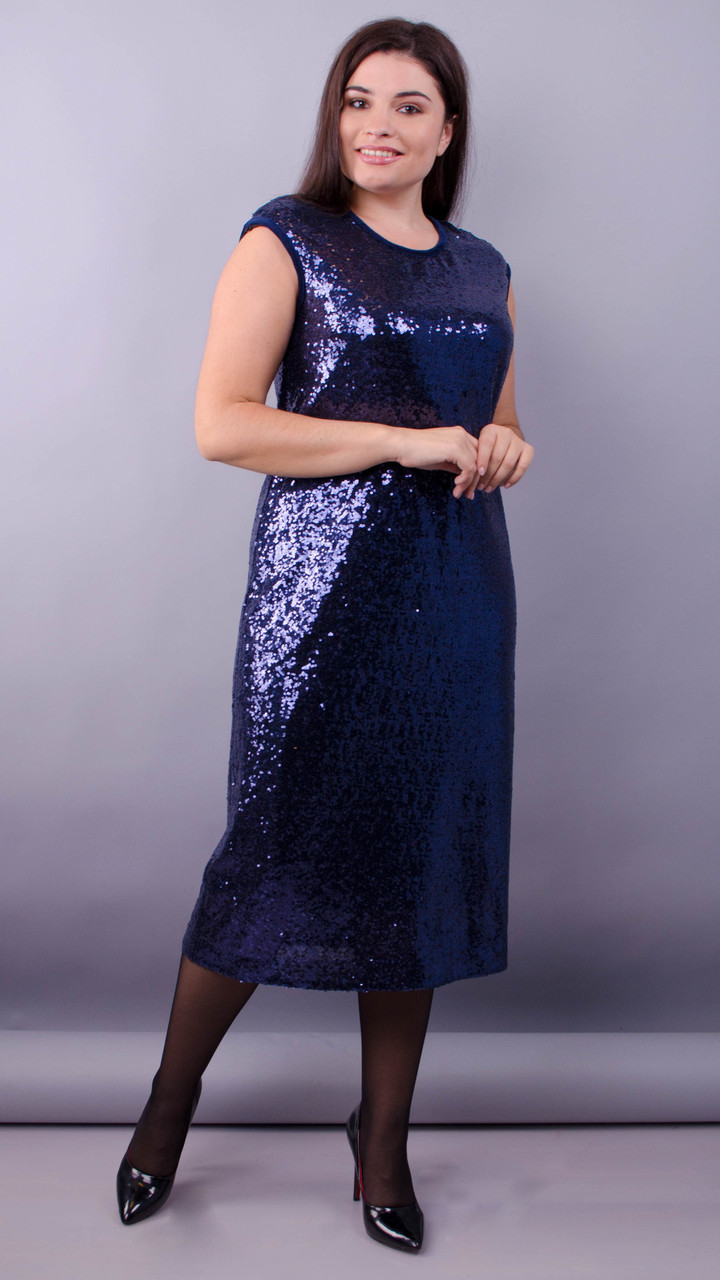 Платье Соло синий