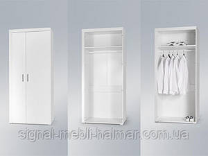 Шкаф Samba Белый мат / Белый глянец Cama