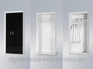 Шкаф Samba Белый мат / Черный глянец Cama