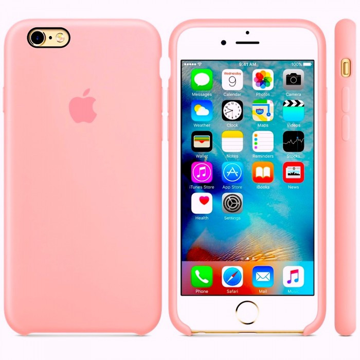 Apple Silicon Case for iPhone 6/6S Pink
