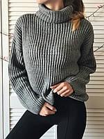 Серый свитер женский