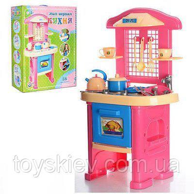 """Детская игровая кухня """"Кухня 4 ТехноК"""" кухонный набор, посудка, плита. арт. 3039"""