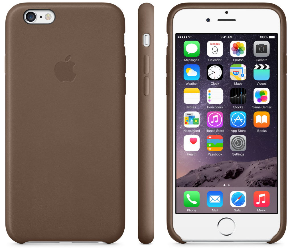 Apple Silicon Case for iPhone 6/6S Wood Brown