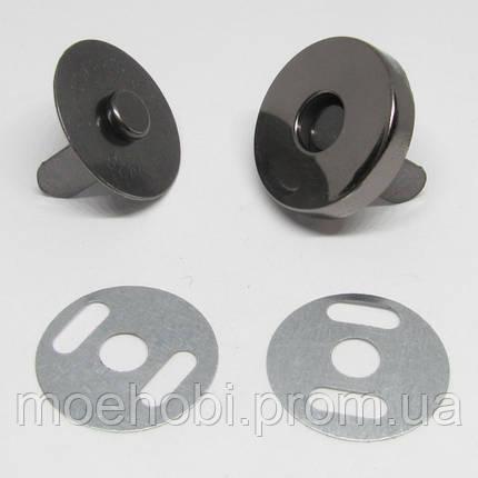Кнопка магнитная (18мм) темный никель 5001, фото 2