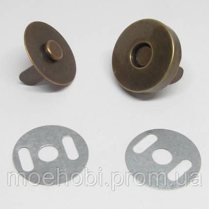 Кнопка магнитная (18мм) антик  5001, фото 2