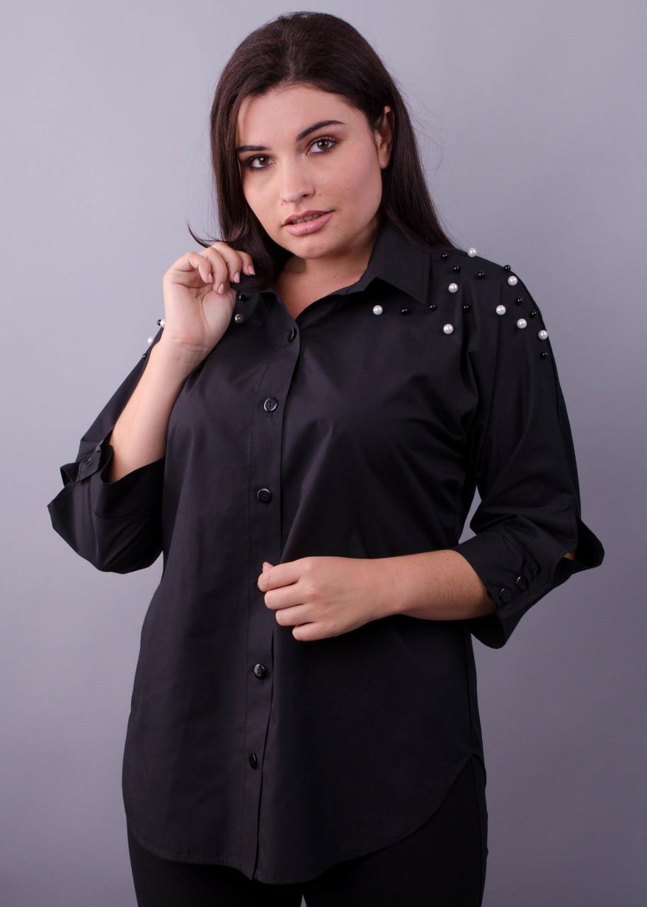 8f0743e04cadaba Рубашка супер батал Магда черный : продажа, цена в Хмельницкой ...