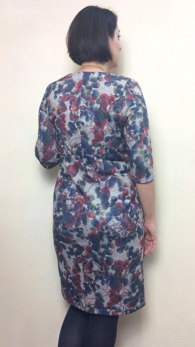 Теплое женское платье из ангоры П191