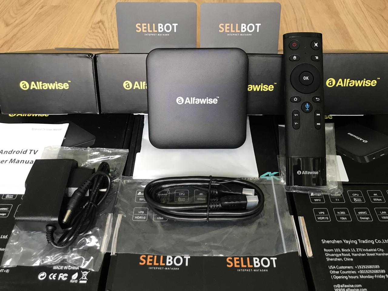 TV-Приставка Alfawise Z1 3/32GB S912 (Android Smart TV BOX, Андроид Смарт ТВ Приставка, Андроїд тв бокс)