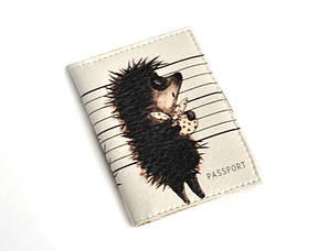 Обложка на ID паспорт -Ежик и мешочек-