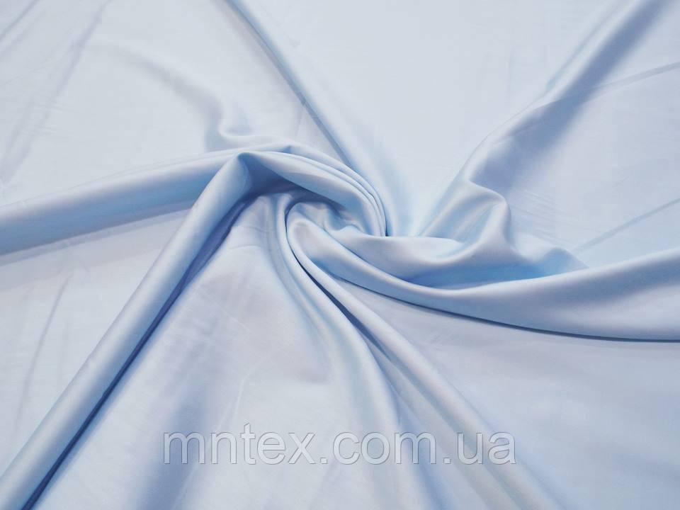 Ткань для пошива постельного белья сатин гладкокрашеный Нежно голубой