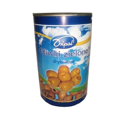 Оливки зеленые без косточки  Dripol 4 л