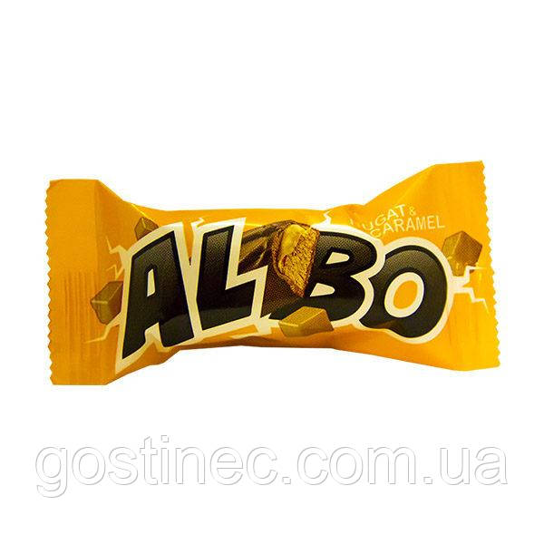 Цукерки Albo Nugat&caramel фабрика Баян Сулу республіка Казахстан
