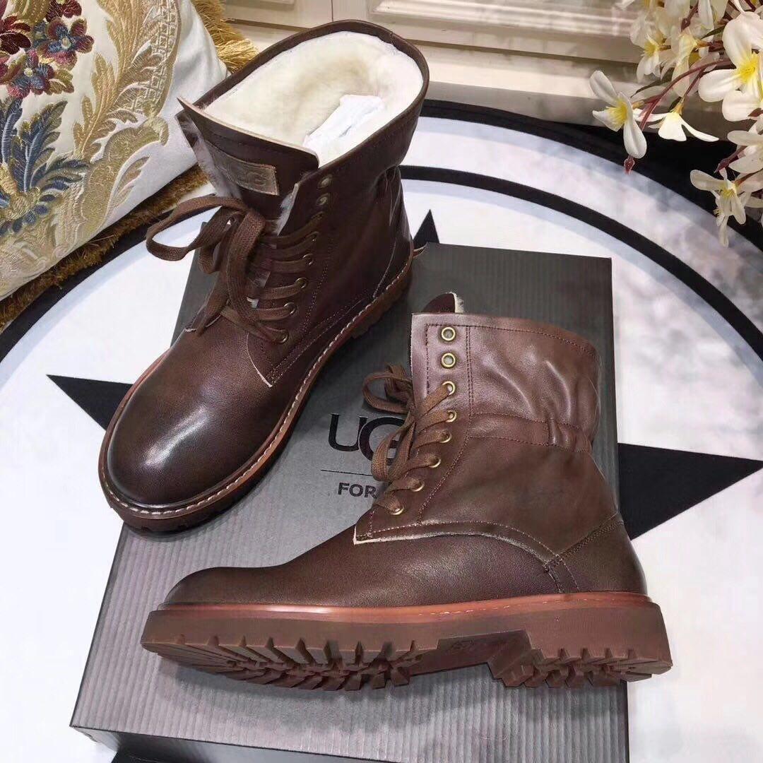 Женские кожаные зимние ботинки UGG.Купить в Украине!