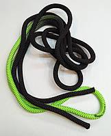 Скакалка Venturelli 3 m цв. Green-Black PLDD113002, фото 1