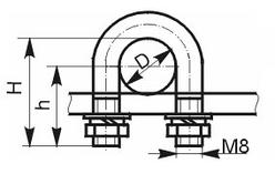 Хомуты стальные С 437 - С 442