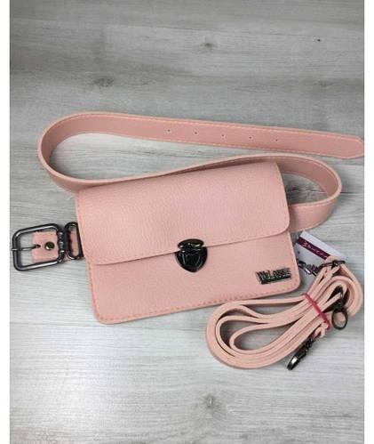 721550924e8e Женская сумка на пояс-клатч WeLassie Белла пудрового цвета: продажа, цена в  Одессе. женские сумочки и клатчи от