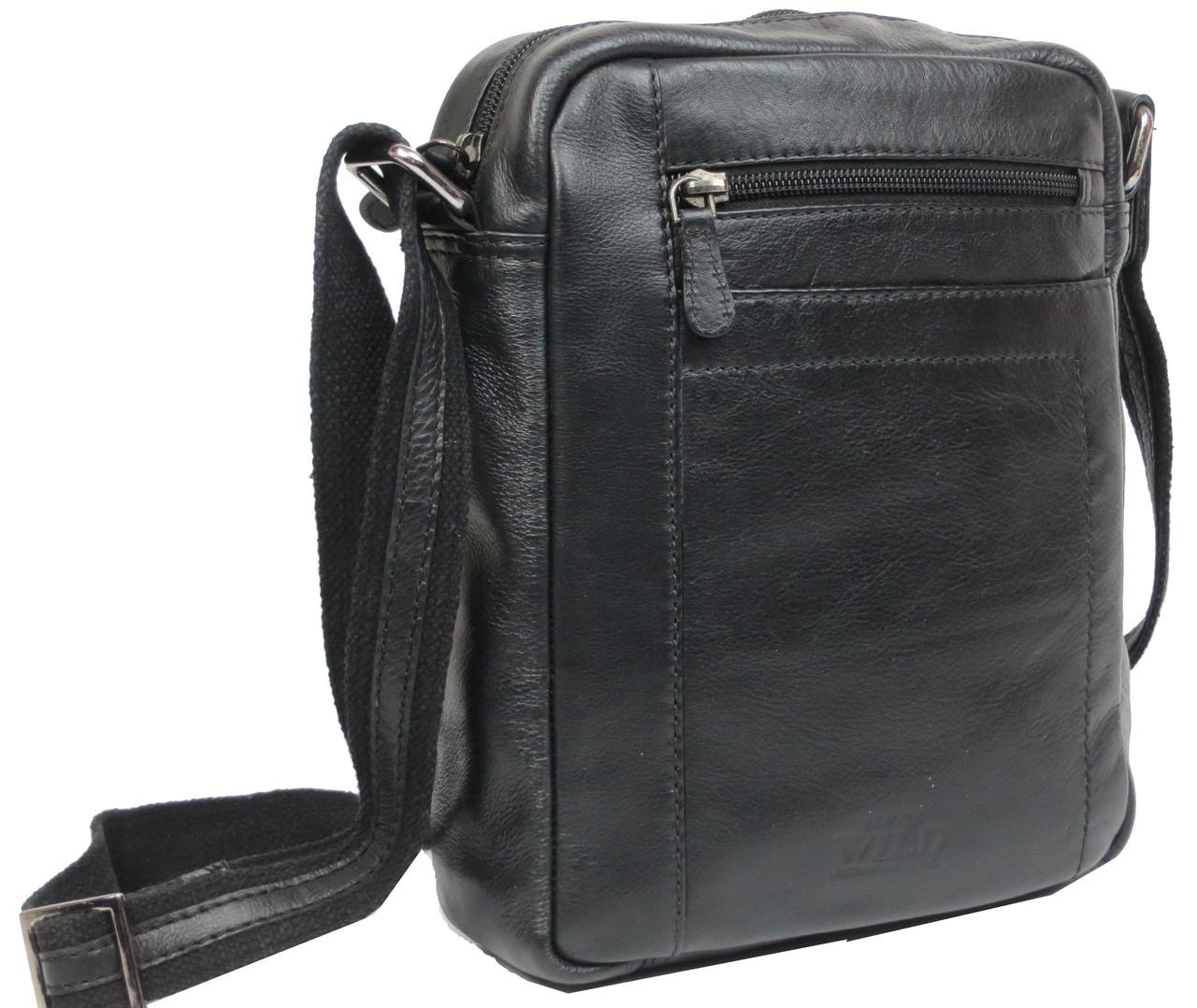 35c8eebaa143 Мужская наплечная кожаная сумка Always Wild SS001 черная — только ...
