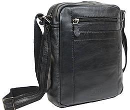 Мужская наплечная кожаная сумка Always Wild SS001 черная