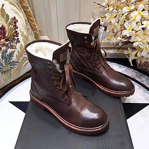 Мужские кожаные зимние ботинки UGG.Купить в Украине!