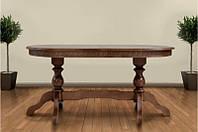 Большой, раздвижной обеденный стол из массива дерева -Оскар Люкс  (темный орех)