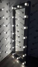 Зеркало с подсветкой Sirius ДСП Swisspan Черный (Velmi TM)