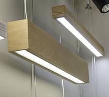 Линейный LED светильник в деревянном корпусе Vela Timber 40Вт