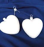 Подвеска Сердце пластик серый заготовка для новогодней игрушки, фото 3