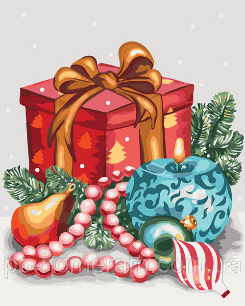 Новогодний подарок для детей - картина по номерам
