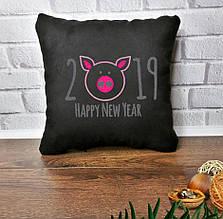 """Новогодняя подушка """"Happy New Year 2019""""  03"""