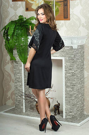 Женское молодежное платья свободного покроя рукав 3/4 размер 52, фото 2