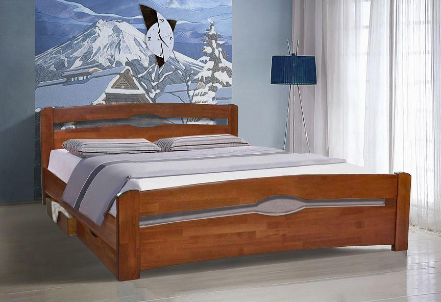 Кровать КАРОЛИНА с 2 ящиками 90х200
