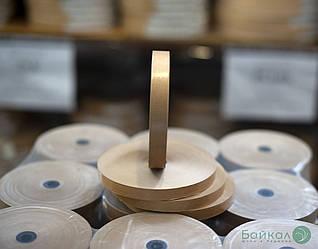 Гумирка для склеивания шпона коричневая с животным клеем: ширина-15 мм, длина-200 м/п
