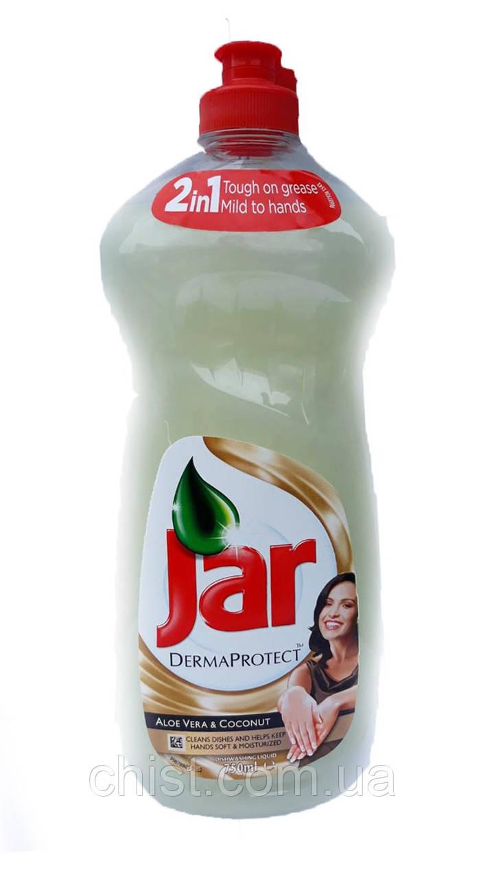 """Jar средство для мытья посуды """"Алое вера и кокос"""" (750 мл)"""