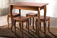 Стол обеденный, компактный из массива дерева - Смарт (темный орех)