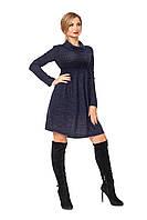 Молодежное женское платье №1108 (темно-синий)