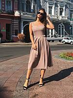 Платье-сарафан кофейное, арт.1011, фото 1