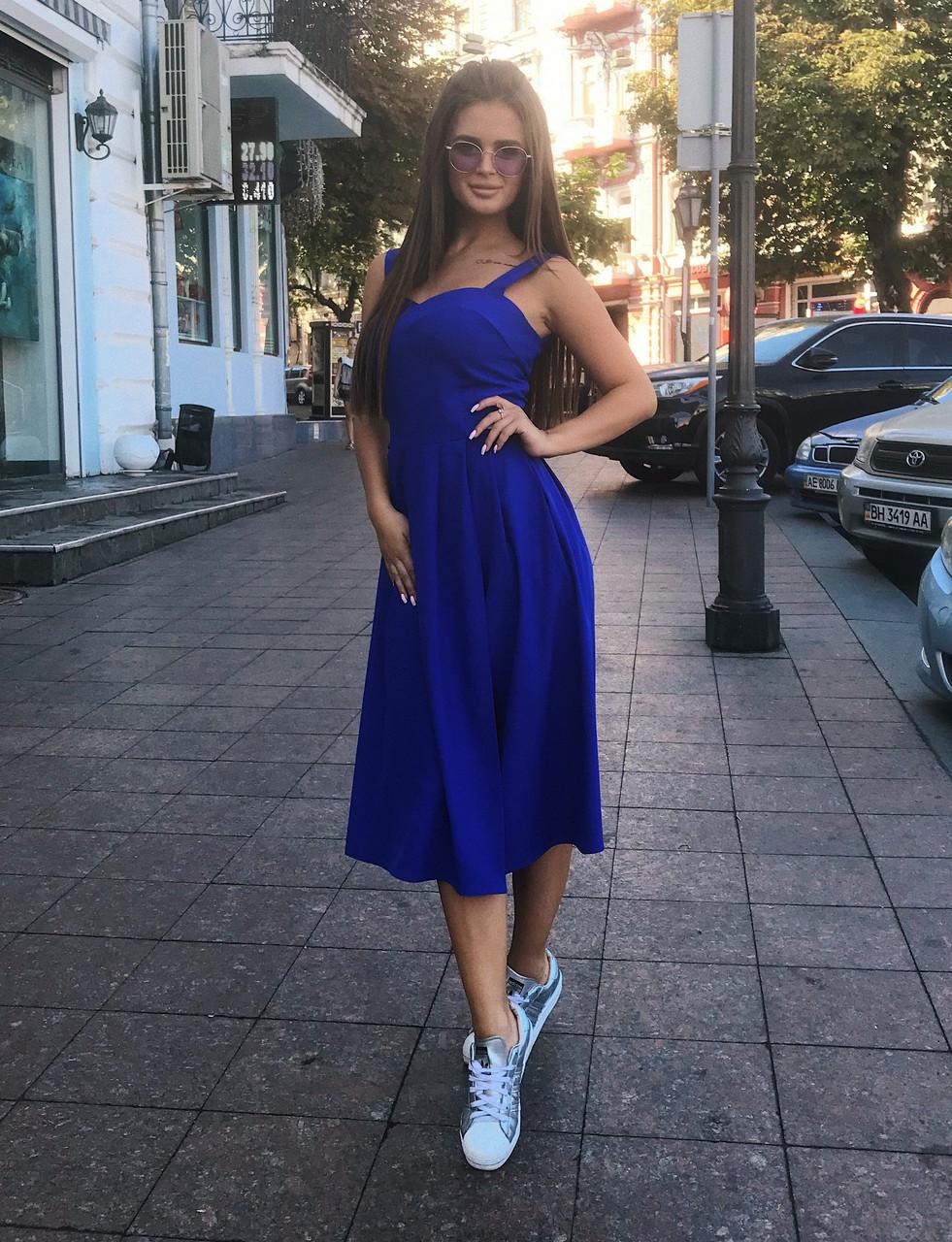 Платье-сарафан электрик, арт.1011